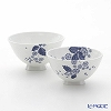 Wedgwood 'Strawberry Bloom Indigo' Rice Bowl (L & M / set of 2 size)