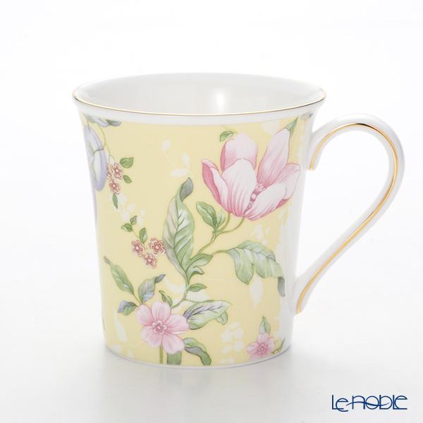 Wedgwood Sweet Plum Damask Delphi Mug 300 cc, yellow set of 2 with gift box