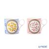 Wedgwood 'Wonderlust - Tokyo / Sakura (Cherry Blossom) & Icho (Ginko)' Pink & Blue [Limited in Japan] Mug 350ml