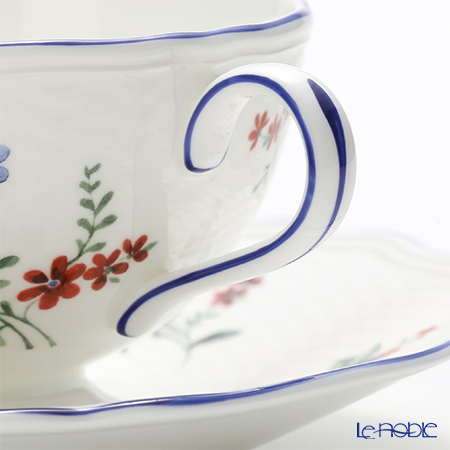 Wedgwood Taffeta Flowers Teacup & Saucer (Set of 2)
