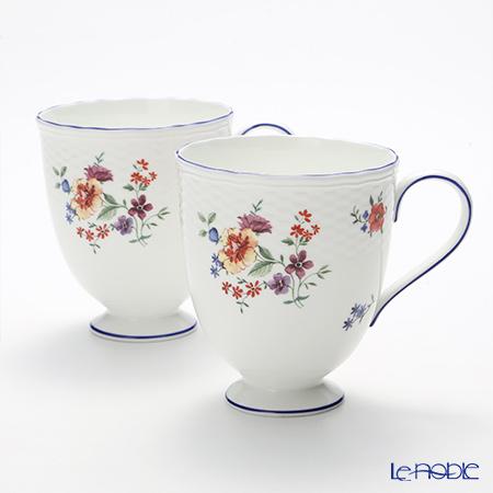 ウェッジウッド(Wedgwood) タフェッタ フラワー マグカップ(リー) 300cc ペア 【ブランドボックス付】