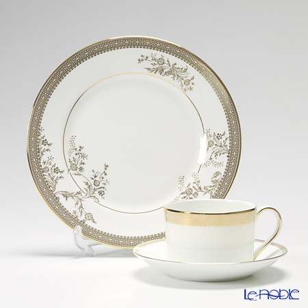 Wedgwood Vera Wang Lace Gold Teacup & Saucer and Plate 20 cm