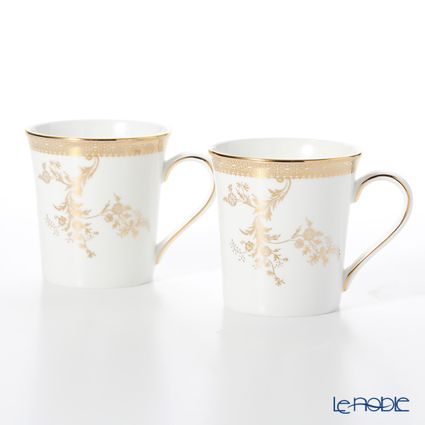 Wedgwood Vera Wang - Lace Gold Mug 300ml (set of 2)