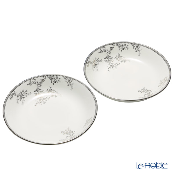 Wedgwood Vera Wang - Lace Platinum Multi Bowl 20cm (set of 2)
