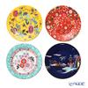 Wedgwood 'Wanderlust - Blue Pagoda, Yellow Tonquin, Crimson Jewel, Camellia' Plate 20.5cm (set of 4 patterns)