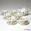 Wedgwood 'Wild Strawberry' Tea Cup & Saucer, Tea Pot (set of 7 for 6 persons)