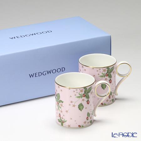 ウェッジウッド(Wedgwood) ワイルドストロベリー ブルームマグ 250cc(ピンク) ペア 【ブランドボックス付】