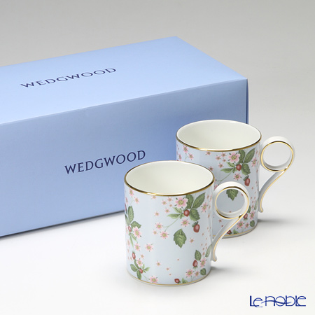 Wedgwood Wild Strawberry Bloom Mug - Blue, 2 pcs. with gift box