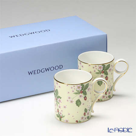 Wedgwood Wild Strawberry Bloom Mug - Yellow, 2 pcs. with gift box