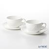 Wedgwood Wild Strawberry White Tea Cup & Saucer 300ml (set of 2)