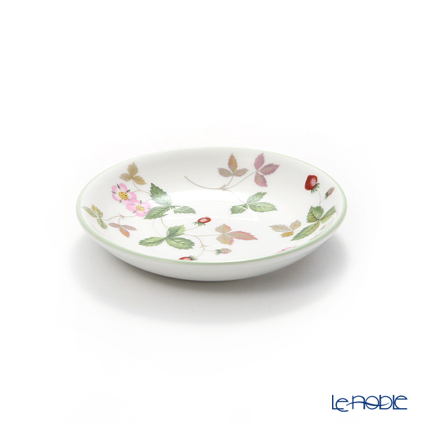 Wedgwood 'Wild Strawberry Casual' Green Japanese Tea Cup & Petit Tray / Saucer 150ml (set of 2)