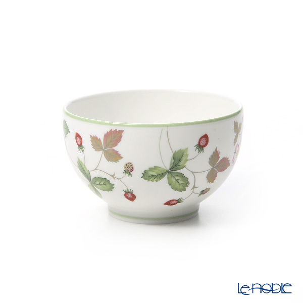 Wedgwood 'Wild Strawberry Casual' Green Japanese Tea Cup & Petite Tray / Saucer 150ml