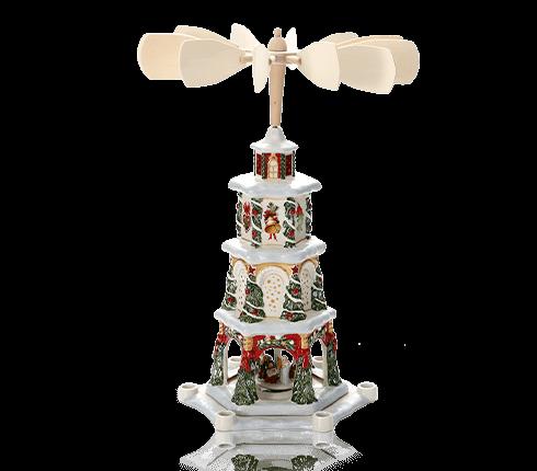 ビレロイ&ボッホ(Villeroy&Boch) クリスマストイズメモリー クリスマスピラミッド(キャンドルホルダー) 組立式 5843