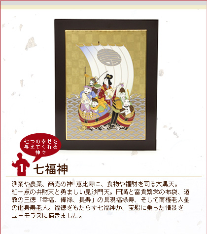 ノリタケ スタジオコレクション 縁起物 陶額 七福神 4340/A085