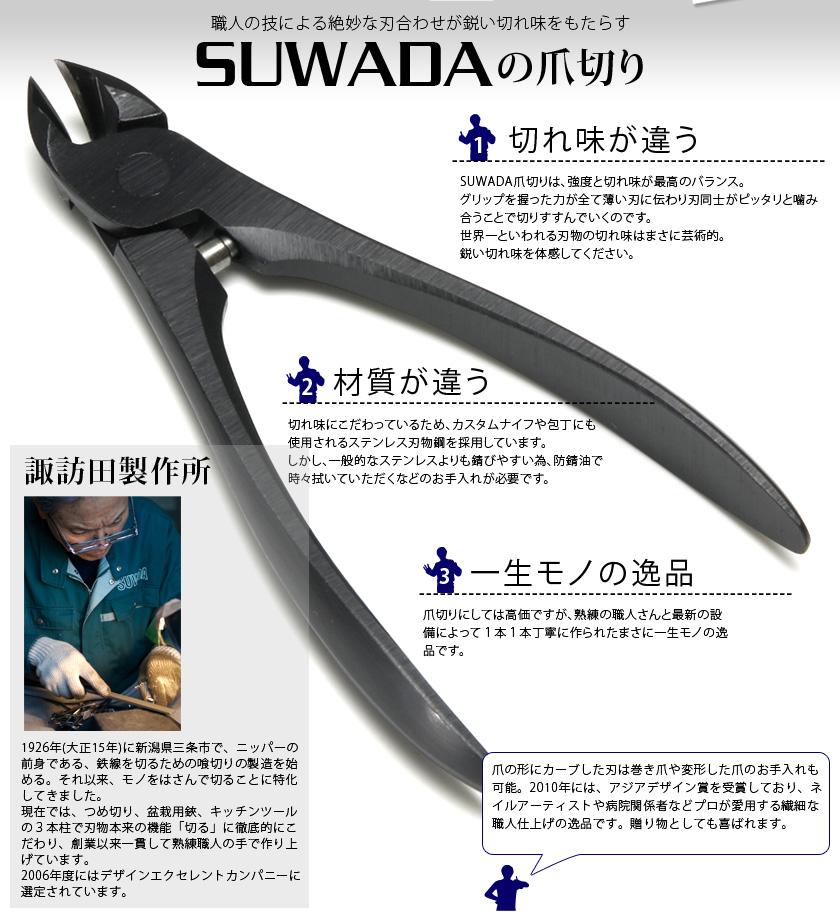 SUWADA つめ切り ブラック L 059060