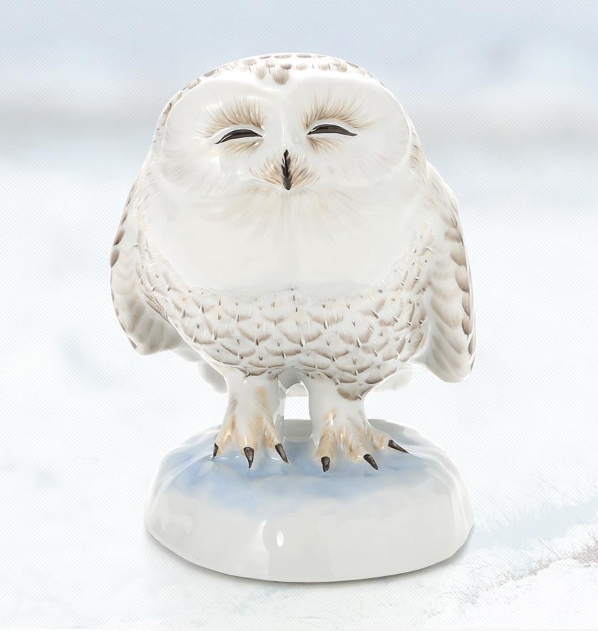 雪(白)フクロウ ルノーブルオリジナル
